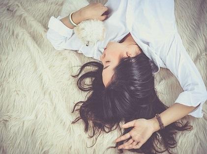 sleeping lying in bed girl woman
