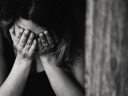 woman sad alone depressed