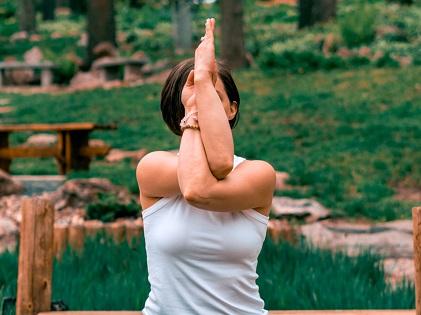 woman meditating meditation